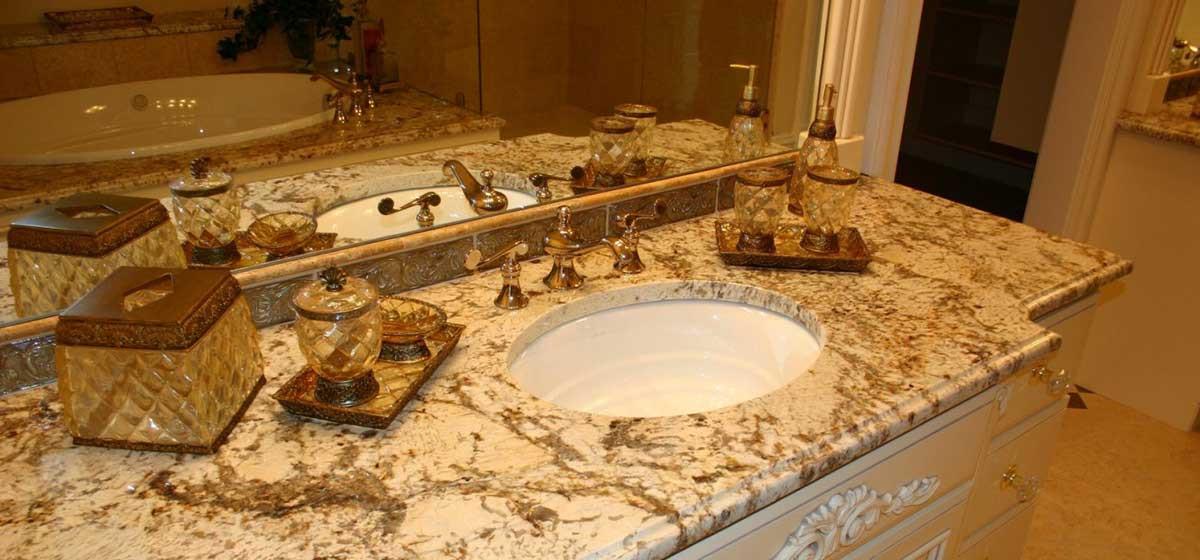 Столешница из искусственнного камня в ванную